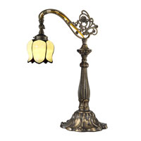 Dale Tiffany Tulip Tiffany 1 Light Table Lamp in Antique Bronze and Sand TT13063
