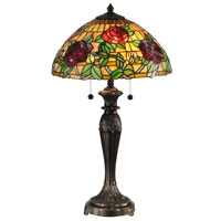 Dale Tiffany Rosewood 2 Light Table Lamp in Fieldstone TT13088