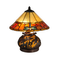 Dale Tiffany Genoa 2 Light Table Lamp in Dark Antique Bronze TT13092