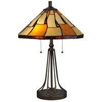 Dale Tiffany TT13194 Nero 24 inch 60 watt Dark Bronze Table Lamp Portable Light