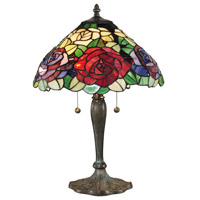 Dale Tiffany Tiffany 2 Light Table Lamp in Antique Bronze/Verde TT14114