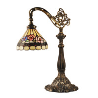 Dale Tiffany TT14161 Lea 22 inch 40 watt Antique Bronze/Sand Table Lamp Portable Light