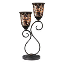Dale Tiffany Shell 2 Light Table Lamp in Dark Bronze TT14169