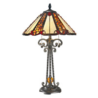 Dale Tiffany TT14242 Flint River 26 inch 60 watt Dark Bronze Table Lamp Portable Light