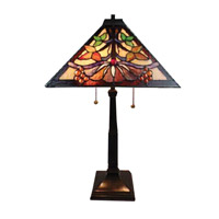Baja 24 inch 75 watt Tiffany Bronze Table Lamp Portable Light