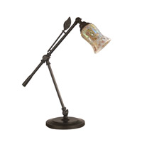 Dale Tiffany Hunters Creek 1 Light Desk Lamp in Dark Bronze TT14280