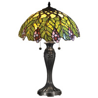 Valencia 23 inch 60 watt Tiffany Bronze Table Lamp Portable Light