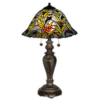 Leia 23 inch 60 watt Tiffany Bronze Table Lamp Portable Light