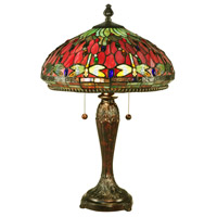 Dale Tiffany Dragonfly 2 Light Table Lamp in Fieldstone TT15085