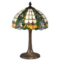 Dale Tiffany TT15086 Asure 18 inch 60 watt Antique Brass Table Lamp Portable Light