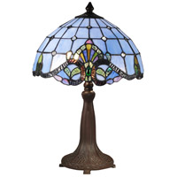 Dale Tiffany Baroque 2 Light Table Lamp in Antique Bronze/Verde TT15090