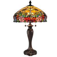 Dale Tiffany Zenia 2 Light Table Lamp in Fieldstone TT15097