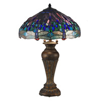 Dale Tiffany Dragonfly 2 Light Table Lamp in Fieldstone TT15102