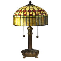 Mayor Island 20 inch 75 watt Antique Bronze Table Lamp Portable Light