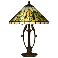 South Island 21 inch 75 watt Antique Bronze Table Lamp Portable Light