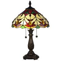 Dale Tiffany TT17076 Arizona Marshall 22 inch 75 watt Antique Bronze Table Lamp Portable Light