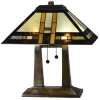Dale Tiffany TT17077 Sedona 19 inch 75 watt Antique Bronze Table Lamp Portable Light