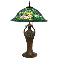 Dale Tiffany TT17115 Ren 35 inch 100 watt Antique Bronze Table Lamp Portable Light