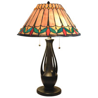 Dale Tiffany TT18175 Jardin 24 inch 75 watt Dark Antique Bronze Table Lamp Portable Light
