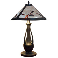 Dale Tiffany TT18176 Spring Leaves 24 inch 75 watt Antique Bronze Table Lamp Portable Light