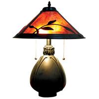 Dale Tiffany TT18177 Fall Leaves 19 inch 75 watt Antique Bronze Table Lamp Portable Light