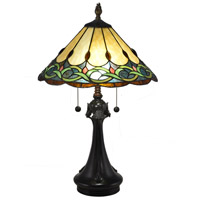 Dale Tiffany TT18178 Adair 24 inch 75 watt Antique Bronze Table Lamp Portable Light