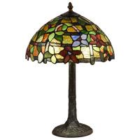 Dale Tiffany TT18187 Valencia 21 inch 75 watt Antique Bronze Verde Table Lamp Portable Light