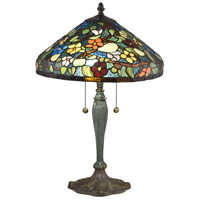Dale Tiffany TT18189 Southern Garden 23 inch 75 watt Antique Bronze Verde Table Lamp Portable Light