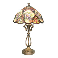 Dale Tiffany Danby 2 Light Table Lamp in Antique Brass TT50219