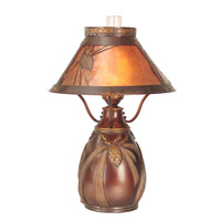 Dale Tiffany Dana Table Lamp 1 Light in Antique Brass Plating TT60003