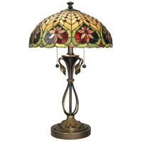 Dale Tiffany Leilani 2 Light Table Lamp in Antique Brass TT60024
