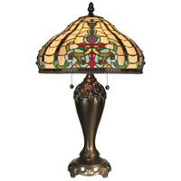 Dale Tiffany Topaz 2 Light Table Lamp in Antique Golden Sand TT60203