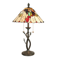 Dale Tiffany Roxy 2 Light Table Lamp in Antique Bronze TT60233 photo thumbnail