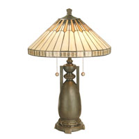 Dale Tiffany Augusta Table Lamp 2 Light in Antique Bronze Paint TT60257 photo thumbnail