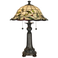 Dale Tiffany Donavan Table Lamp 2 Light in Mica Bronze TT60574