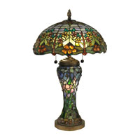 Dale Tiffany Atticus Table Lamp 3 Light in Antique Bronze TT60577