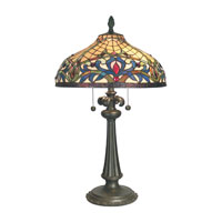 Dale Tiffany Bailey Table Lamp 2 Light in Mica Bronze TT60585 photo thumbnail