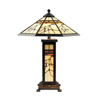 Dale Tiffany TT70331 Mission 25 inch 60 watt Antique Golden Sand Table Lamp Portable Light photo thumbnail