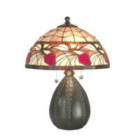 Dale Tiffany Mckinney Table Lamp 2 Light in Antique Bronze TT70708
