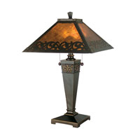 Dale Tiffany Valentino 2 Light Table Lamp in Antique Golden Sand TT80171