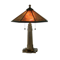 Dale Tiffany Camillo Table Lamp 2 Light in Antique Golden Sand TT80172