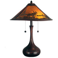 Wilderness 22 inch 60 watt Antique Bronze Table Lamp Portable Light