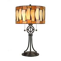 Dale Tiffany Addison Tiffany Table Lamp 2 Light in Dark Antique Bronze TT90021