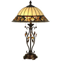Dale Tiffany Pebblestone Table Lamp 2 Light in Antique Golden Sand TT90172 photo thumbnail