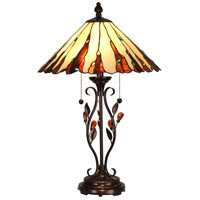 Dale Tiffany Ripley Table Lamp 2 Light in Antique Golden Sand TT90178