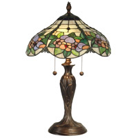Dale Tiffany Chicago Table Lamp 2 Light in Antique Bronze Paint TT90179