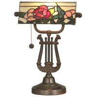 Dale Tiffany Broadview Bank Accent Lamp 1 Light in Antique Bronze TT90186