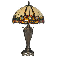 Dale Tiffany Northlake Table Lamp 2 Light in Antique Bronze Plating TT90235