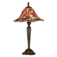 Dale Tiffany Pink Wave Dragonfly Table Lamp 1 Light in Bronze TT90266 photo thumbnail