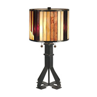 Dale Tiffany TT90273 Geometric 26 inch 60 watt Dark Antique Bronze Table Lamp Portable Light photo thumbnail